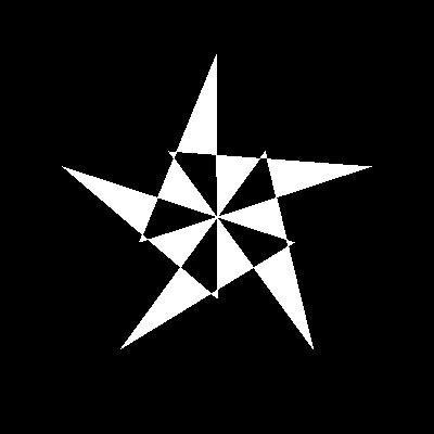 Stern mit falscher Koordinatenzuordnung
